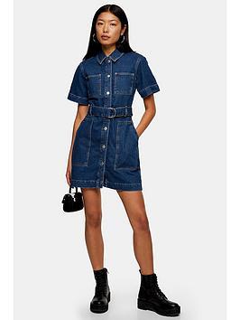 topshop-denim-patch-pocket-shirt-dress-blue