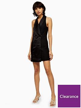 topshop-satin-tux-mini-dress-black