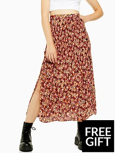 topshop-topshop-floral-crystal-pleat-skirt-multi