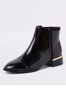river-island-river-island-wide-fit-pearl-embellished-ankle-boot-black