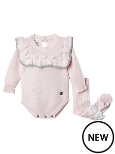 river-island-baby-baby-girls-bobble-baby-knitted-romper-and-socks