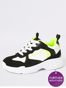 river-island-boys-neon-chunky-lace-up-trainer--black