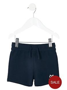 river-island-mini-mini-boys-embroidered-shorts-navy