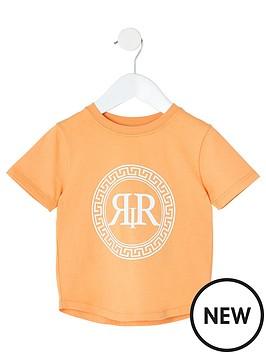 river-island-mini-mini-boys-ri-icon-print-t-shirt-orange