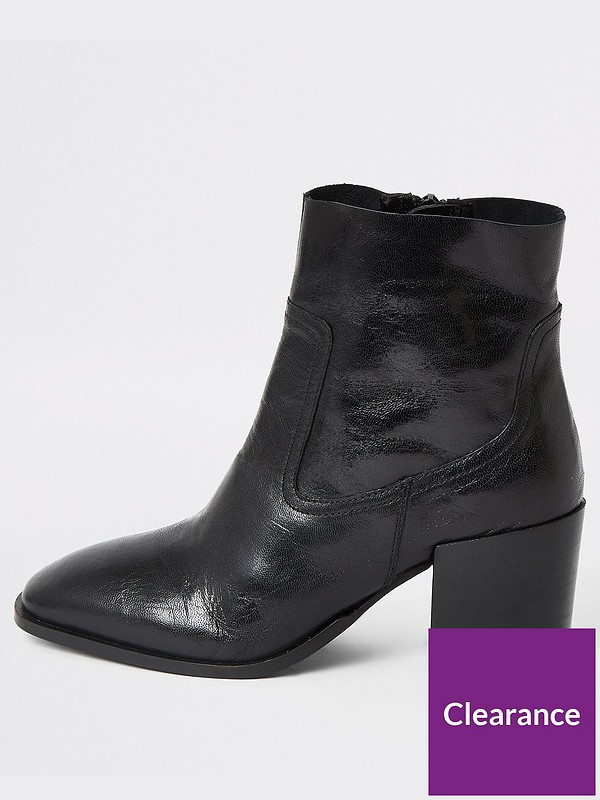 River Island soft black leather pointed