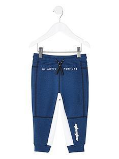 river-island-mini-mini-boys-ru-active-panelled-jogpants-blue