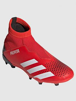 Adidas   Junior Predator Laceless 19.3 Firm Ground Football Boots - Red/Black