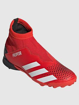 Adidas   Junior Predator Laceless 19.3 Astro Turf Football Boots - Red/Black