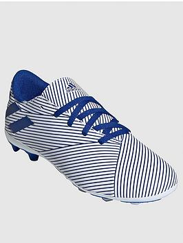 Adidas Adidas Junior Nemeziz 19.4 Firm Ground Football Boots - Blue/White Picture