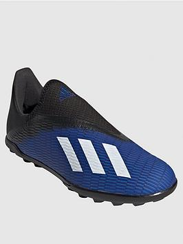 Adidas   Junior X Laceless 19.3 Astro Turf Football Boots - Blue