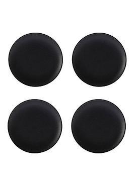 kitchencraft-maxwell-amp-williams-caviar-black-coupe-plates-ndash-set-of-4