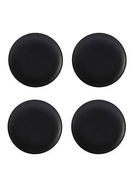 maxwell-williams-maxwell-amp-williams-caviar-black-coupe-plates-ndash-set-of-4