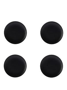 kitchencraft-maxwell-amp-williams-caviar-black-15-cm-coupe-plates-ndash-set-of-4