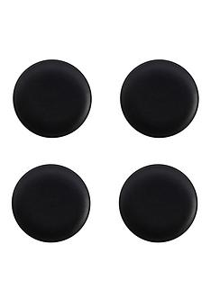 kitchencraft-maxwell-amp-williams-caviar-black-20-cm-coupe-plates-ndash-set-of-4
