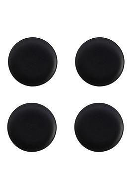 kitchencraft-maxwell-amp-williams-caviar-black-20-cm-coupe-plates-ndash-set-of-4