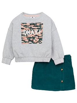V by Very V By Very Girls 2 Piece 'Okay' Sweatshirt And Cord  ... Picture