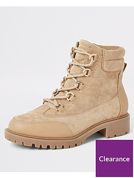 river-island-lace-up-hiker-boot-beige