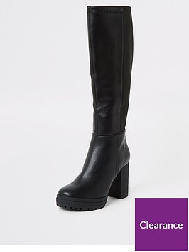river-island-river-island-stretch-knee-high-boot-black