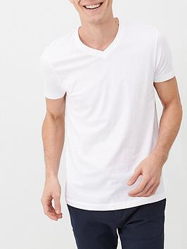 V by Very V By Very Essentials V Neck T-Shirt - White Picture