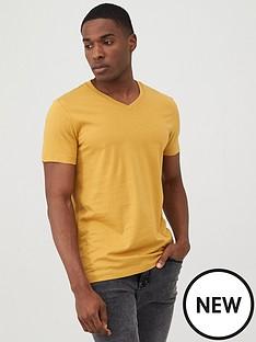 v-by-very-v-neck-t-shirt-mustard