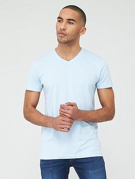 V by Very V By Very Essentials V Neck T-Shirt - Powder Blue Picture