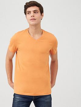 V by Very V By Very V-Neck T-Shirt - Orange Picture
