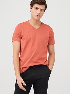 v-by-very-essentials-v-neck-t-shirt-coral