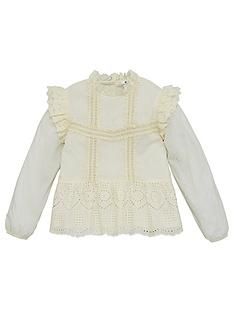 v-by-very-girls-woven-broderie-ruffle-top-cream
