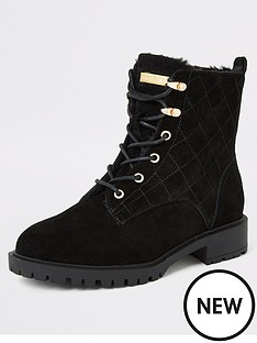 river-island-river-island-quilted-chunky-suede-boots-black