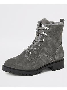 river-island-river-island-quilted-chunky-suede-boots-grey