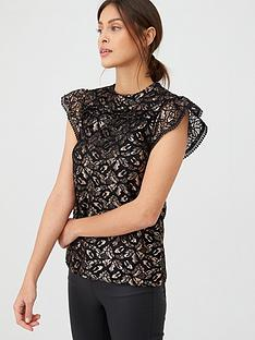 oasis-oasis-lurex-lace-shell-top-gold
