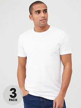 V by Very V By Very 3 Pack Crew T-Shirt - White Picture