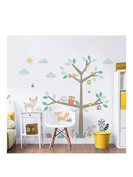 Walltastic Walltastic Woodland Tree &Amp; Friends Large Character Sticker Picture