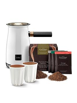 Hotel Chocolat   Velvetiser - White With 10 Hot Chocolates