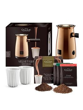 Hotel Chocolat   Velvetiser - Copper With 10 Hot Chocolates