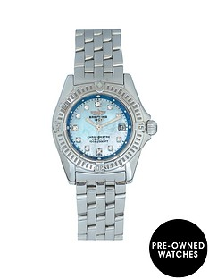 breitling-breitling-pre-owned-ladies-callisto-watch-blue-mop-diamond-dial-ref-a72345
