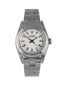 rolex-rolex-pre-owned-ladies-oyster-perpetual-steel-watch-white-dial-reference-76080