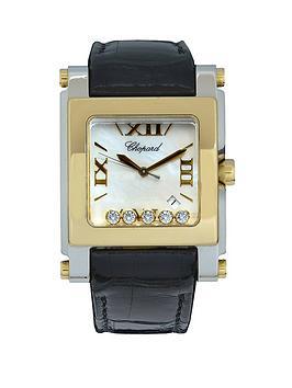 chopard-chopard-pre-owned-ladies-happy-sport-steel-gold-diamond-watch-gold-dial-ref-8447