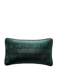 karen-millen-velvet-pleat-boudoir-cushion-emerald