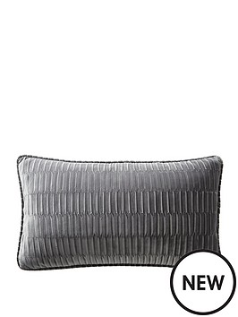 karen-millen-velvet-pleat-boudoir-cushion-charcoal