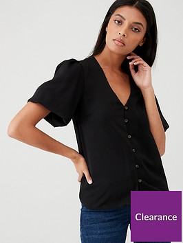 v-by-very-bubble-sleeve-top-black