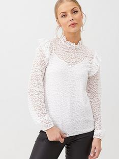 v-by-very-lace-ruffle-shoulder-top-ivory