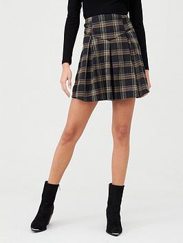 v-by-very-check-grey-mini-skirt-check
