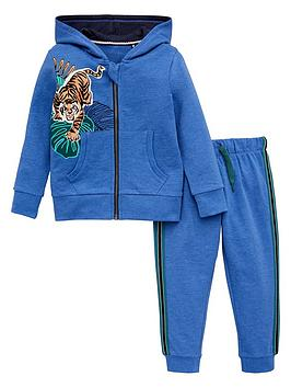 V by Very V By Very Boys Tiger Print Tracksuit - Blue Picture
