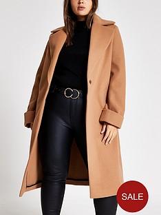 ri-plus-ri-plus-longline-turn-up-sleeve-coat-beige