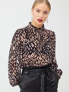 V by Very V By Very Printed Poet Blouse - Animal Picture