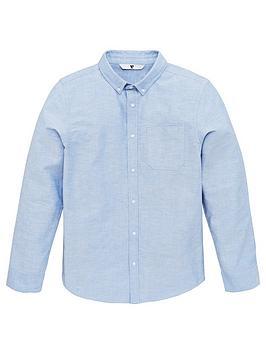 V by Very V By Very Boys Oxford Shirt - Blue Picture
