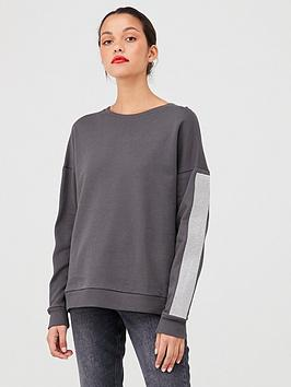 River Island River Island River Island Diamante Long Sleeve Sweat-Charcoal Picture