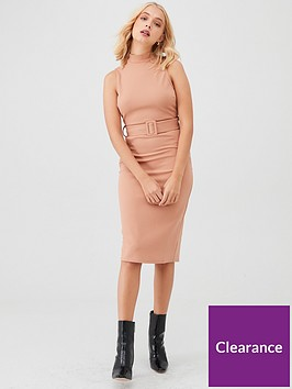 river-island-utility-scuba-dress--camel