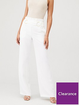 v-by-very-buckle-front-paperbag-waist-trouser-ivory